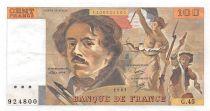 France 100 Francs Delacroix - 1981 Serial G.45 - XF