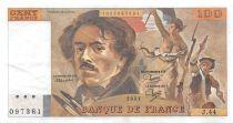 France 100 Francs Delacroix - 1981 Serial J.44 - XF