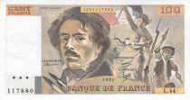 France 100 Francs Delacroix - 1981 Serial L.44 - XF