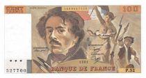 France 100 Francs Delacroix - 1981 Serial P.52 - aUNC