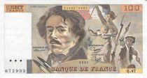 France 100 Francs Delacroix - 1981 Serial Q.47 - XF
