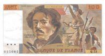 France 100 Francs Delacroix - 1981 Serial Q.53 - XF