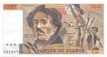 France 100 Francs Delacroix - 1981 Serial T.44 - XF