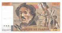 France 100 Francs Delacroix - 1981 Serial T.44 - XF