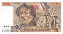 France 100 Francs Delacroix - 1981 Serial T.53 - UNC