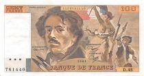 France 100 Francs Delacroix - 1981 Série D.45 - SUP
