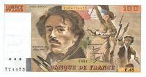 France 100 Francs Delacroix - 1981 TTB Hachuré