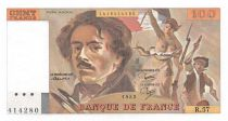 France 100 Francs Delacroix - 1982 Serial R.57 - AU