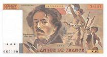 France 100 Francs Delacroix - 1982 Serial X.63 - UNC