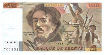 France 100 Francs Delacroix - 1982 TTB Hachuré