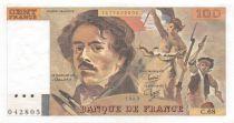 France 100 Francs Delacroix - 1983 Serial C.68 - AU