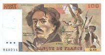 France 100 Francs Delacroix - 1983 TTB Hachuré