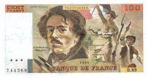 France 100 Francs Delacroix - 1984 Serial B.89 - VF