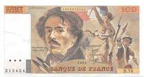 France 100 Francs Delacroix - 1984 Serial D.78 - XF