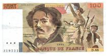 France 100 Francs Delacroix - 1984 Serial D.88 - VF