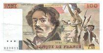France 100 Francs Delacroix - 1984 Serial E.89 - VF