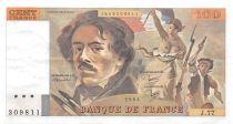 France 100 Francs Delacroix - 1984 Serial J.77 - XF
