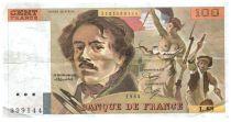 France 100 Francs Delacroix - 1984 Serial L.88 - VF