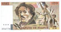 France 100 Francs Delacroix - 1984 Serial M.88 - VF