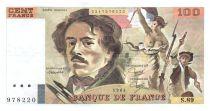 France 100 Francs Delacroix - 1984 Serial S.89 - VF