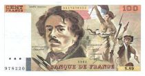 France 100 Francs Delacroix - 1984 Serial S.89 - VF