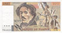 France 100 Francs Delacroix - 1984 Serial T.76 - VF