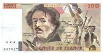France 100 Francs Delacroix - 1984 Serial U.89 - VF