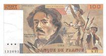 France 100 Francs Delacroix - 1984 Serial V.77 - XF