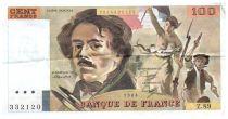 France 100 Francs Delacroix - 1984 Serial Z.89 - VF