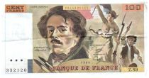 France 100 Francs Delacroix - 1984 Serial Z.89 - VF