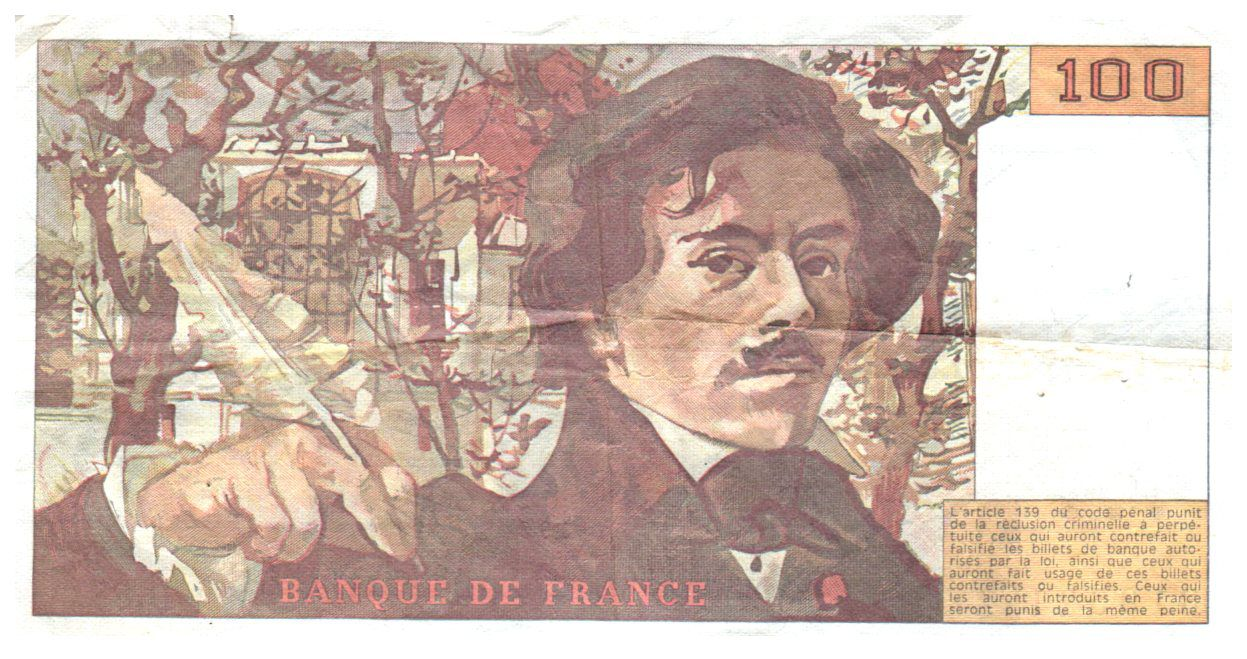 France 100 Francs Delacroix - 1984 Série D.88 - TTB