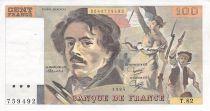 France 100 Francs Delacroix - 1984 Série T.82 - SUP