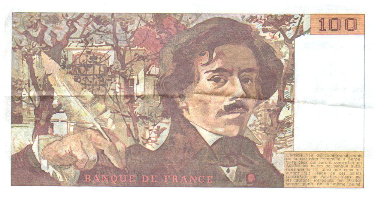France 100 Francs Delacroix - 1984 Série Z.89 - TTB