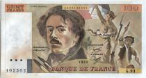 France 100 Francs Delacroix - 1985 Serial G.93 - AU