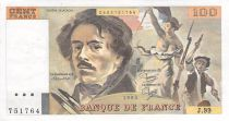 France 100 Francs Delacroix - 1985 Serial J.99 - XF