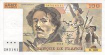 France 100 Francs Delacroix - 1985 Série D.100 - TTB