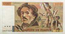France 100 Francs Delacroix - 1985 Série O.97 - SPL