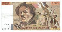 France 100 Francs Delacroix - 1985 TTB Hachuré