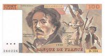 France 100 Francs Delacroix - 1986 Serial D.104 - AU
