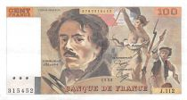 France 100 Francs Delacroix - 1986 Serial J.112 - XF