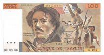 France 100 Francs Delacroix - 1986 Serial K.104 - AU