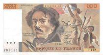 France 100 Francs Delacroix - 1986 Serial L.112 - XF