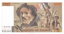 France 100 Francs Delacroix - 1986 Serial U.109 - UNC