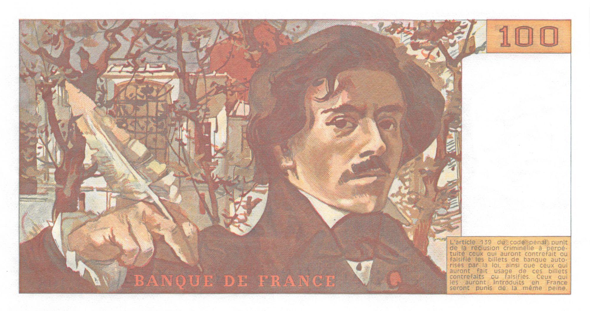 France 100 Francs Delacroix - 1986 Série J.108 - P.NEUF