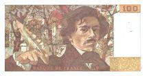 France 100 Francs Delacroix - 1986 TTB Hachuré