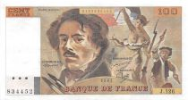 France 100 Francs Delacroix - 1987 Serial J.127 - XF