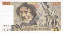 France 100 Francs Delacroix - 1987 Serial N.120 - AU