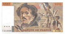 France 100 Francs Delacroix - 1987 Serial N.120 - XF