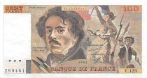 France 100 Francs Delacroix - 1987 Serial Y.125 - XF