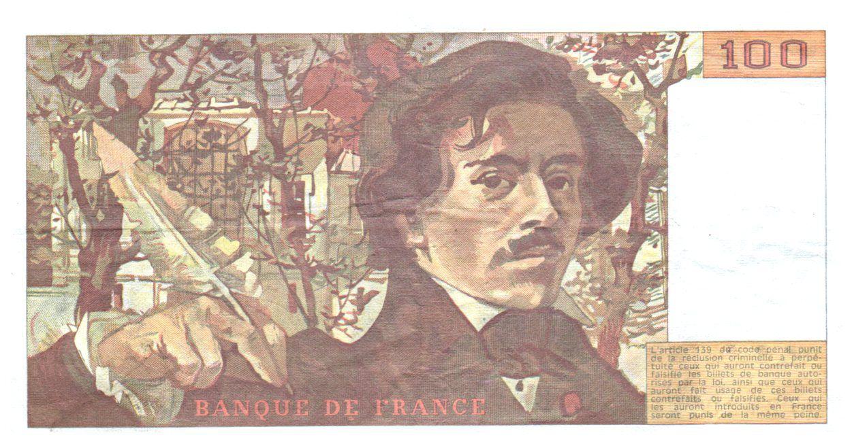 France 100 Francs Delacroix - 1988 VF
